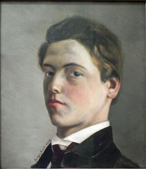 Wilhelm Leibl, self-portrait,1862