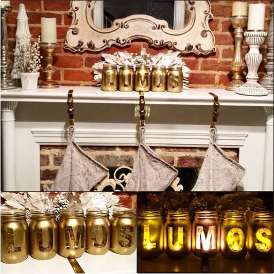 Lumos Luminaries for your Harry Potter Christmas mantel piece