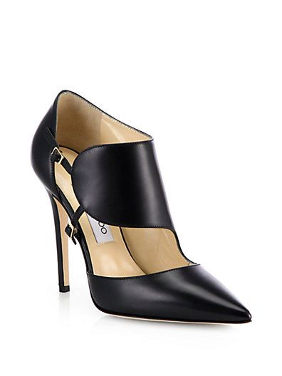 Jimmy Choo Houry Leather Point-Toe Pumps