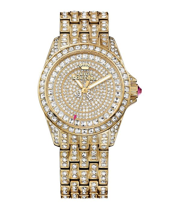 Stella Pave Gold Watch - #JuicyCouture