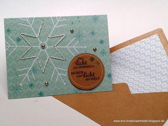 "#Weihnachtskarten mit dem #Projektset ""Gestickte Grüße""   http://eris-kreativwerkstatt.blogspot.de/2016/12/weihnachtskarten-mit-dem-projektset.html  #stampinup #teamstampingart #weihnachten #xmas #christmas #karte"