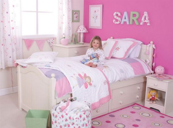 Easy and Stylish Girl's Bedroom Ideas : Pretty Girls Bedroom Ideas ... : Easy Little Girl Room Ideas For Kids
