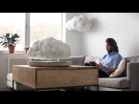 "Richard Clarkson disguises bluetooth speaker as ""levitating"" indoor cloud - YouTube"