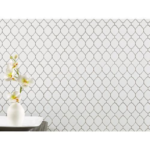 White Lantern Polished Porcelain Mosaic Porcelain Mosaic White