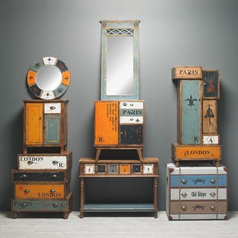 Kommode London - Bringen Sie frischen Wind in Ihr Zuhause mit dieser tollen Kommode im angesagten Vintage-Stil.