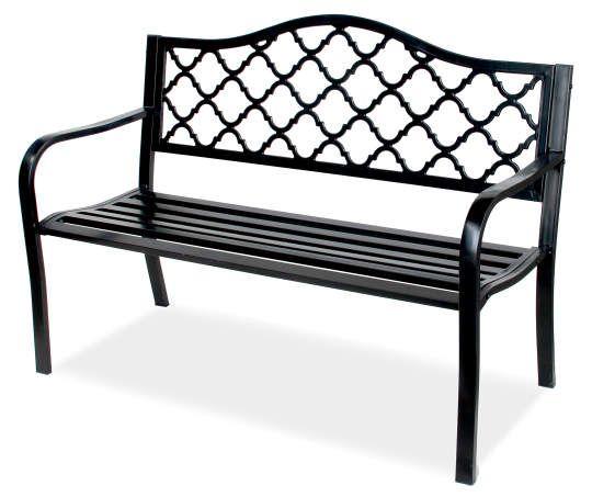 Wilson Fisher Black Wyndham Gate Pattern Garden Bench Cast