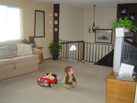 Split level living room someday house pinterest for Split level living room decorating ideas