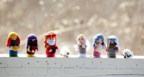 Crochet Nativity Set from www.tradeasone.com #fairtrade