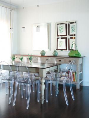 Like the mix of old/french with perspex chairs