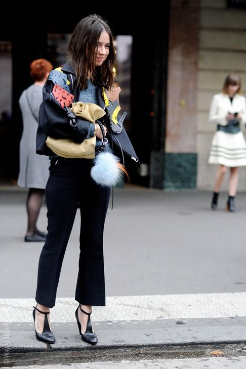 Natasha Goldenberg Paris Fashion Week Street Style