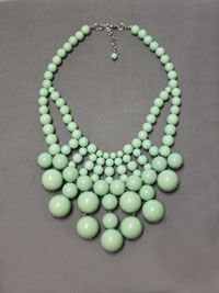 Oh My Mint Bubble Necklace