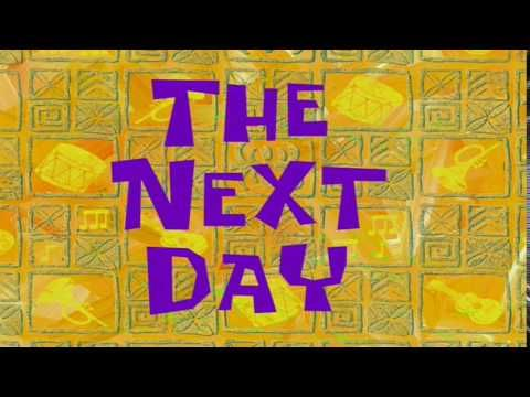 The Next Day Spongebob Time Card 47 Youtube Spongebob Time Cards Writing Memes Spongebob Memes