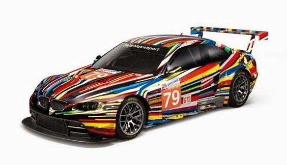 La BMW Art Car de Jeff Koons présentée au Centre Pompidou