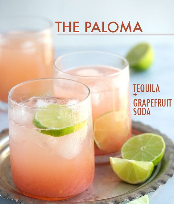 Tequila grapefruit soda and lime wedge on pinterest for Drinks you can make with tequila