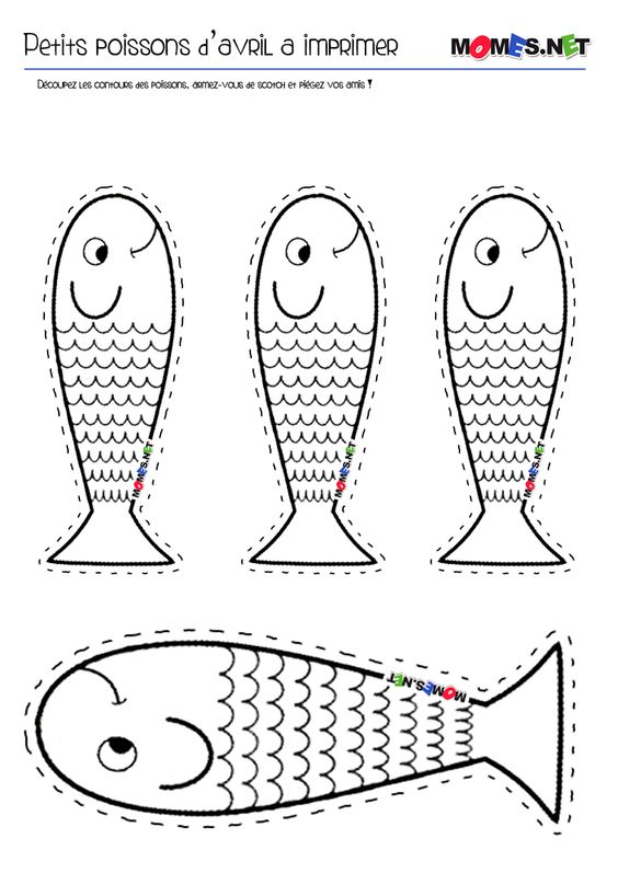 LE poisson d'avril à imprimer