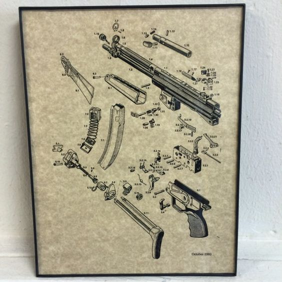 Hey, I found this really awesome Etsy listing at https://www.etsy.com/listing/204704148/machine-gun-art-print-framed-hk-mp5
