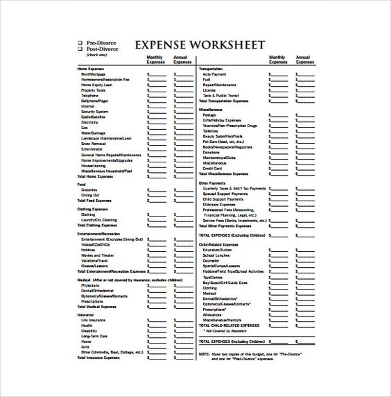 Expense Sheet Template - 15+ Free Word, Excel, PDF Documents - employee payslip format