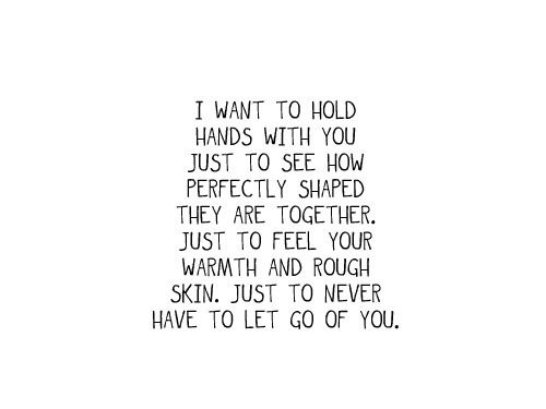 Never let go hands