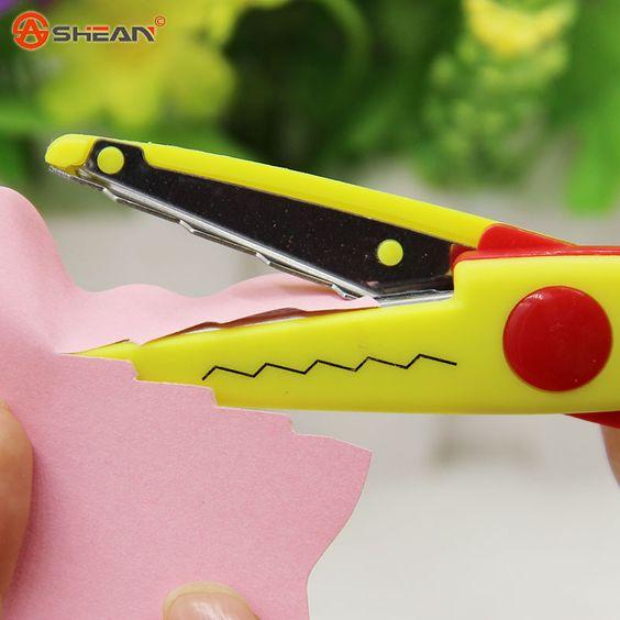 1pcs lace DIY Scissors Scrapbook Paper Photo Tools Diary Decoration Safety Scissors 6 Styles Selection