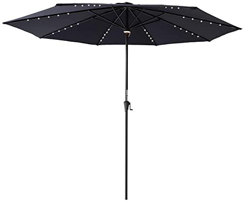 New C Hopetree 11 Ft Outdoor Patio Market Umbrella Solar Led Lights Navy Blue Online Shopping Market Umbrella Light Navy Blue Patio