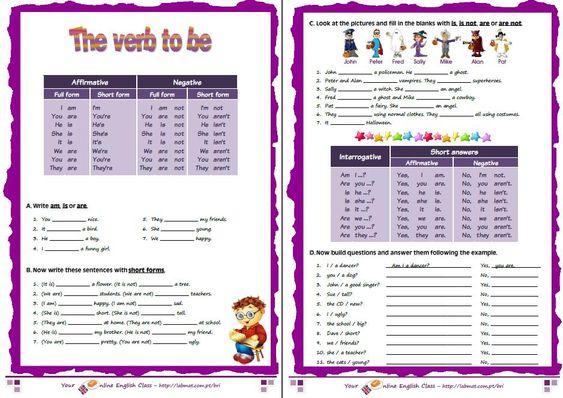 exercicios de espanhol para imprimir de verbos - Pesquisa Google