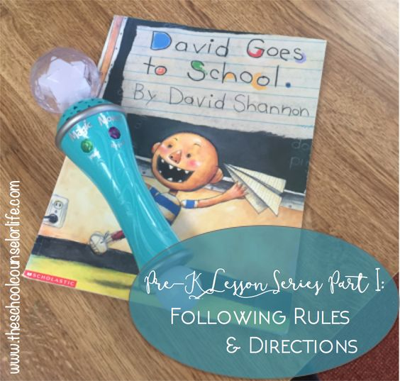 Pre-K Lesson on Following Rules and Directions - School Counselor - Guidance Lesson