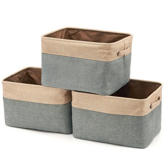 Collapsible Foldable Cloth Fabric Cubby Cube Storage Bins Baskets for Shelves