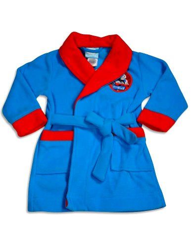 : Baby: Thomas & Friends - Toddler Boys Thomas the Train Fleece Robe, Turquoise, Red 30495-4T