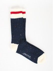 Maple Heritage Speckle Ribbed Socks Navy