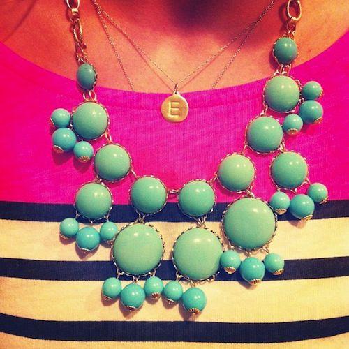 Helen Ficalora pendant and Jcrew bib necklace. Just love.