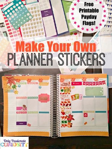 How to make planner stickers with a cricut read more for Design my own planner