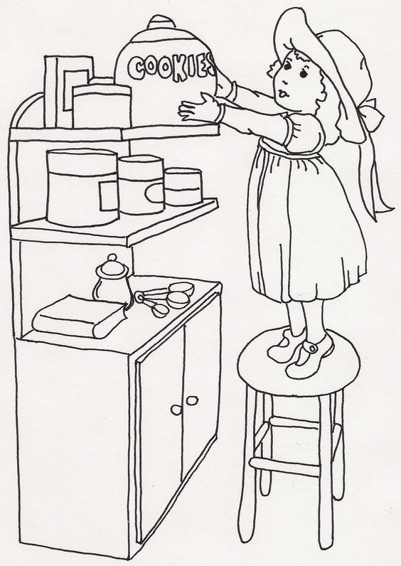 Girl on Stool Taking Down Cookie Jar | Flickr - Photo Sharing!