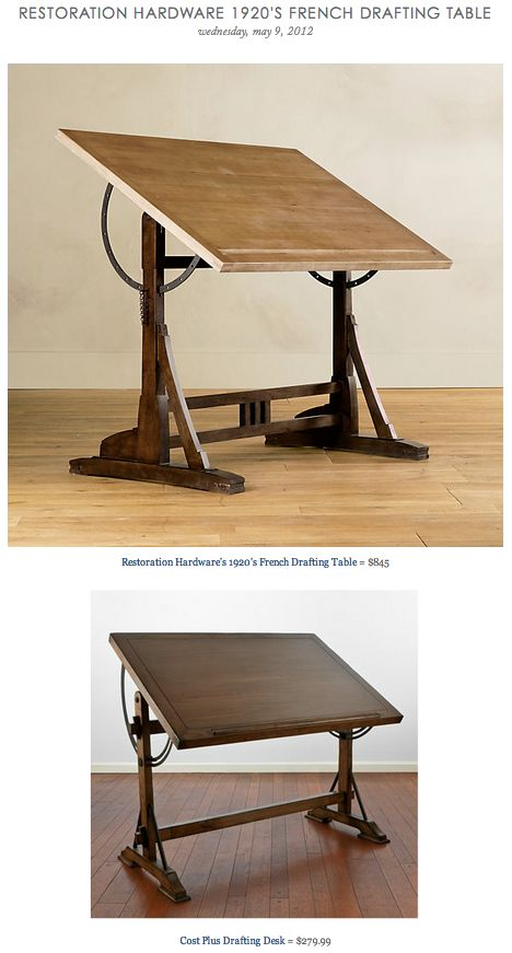 HARDWARE 1920S FRENCH DRAFTING TABLE Vs COST PLUS DESK
