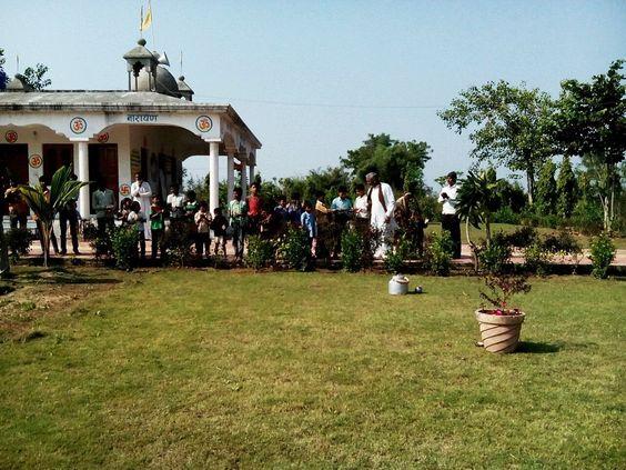 25 Dec Billora ashram sanawad MP me tulsi poojan