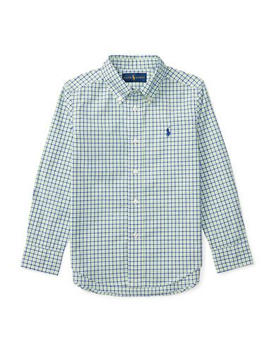 Ralph Lauren Childrenswear Boys 2-7 Cotton Poplin Button-Down Plaid Sh