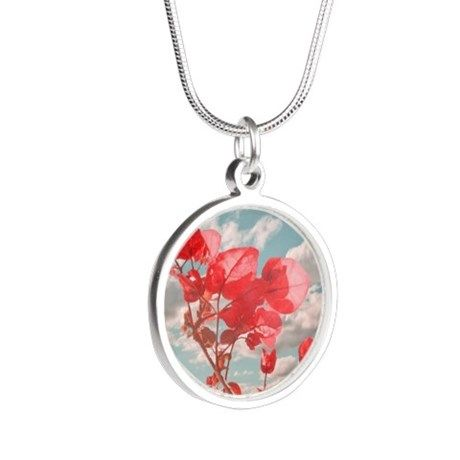 Cute flowers print necklace by #dflcprints