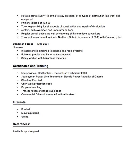 Power Line Technician Resume Sample -    resumesdesign - nurse tech resume