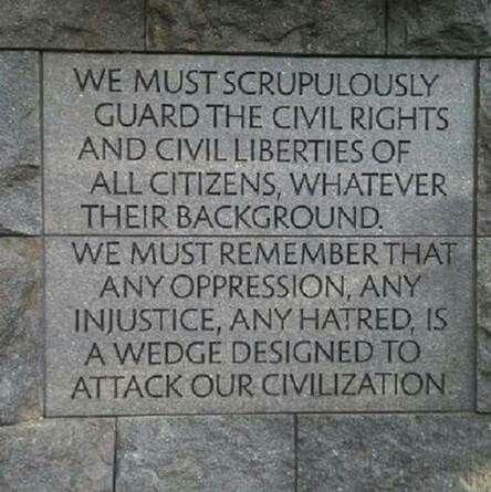 Inscription on FDR Memorial