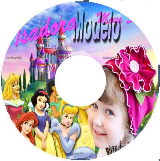 Dvd para Telão ou Cd para Brinde com capa bolacha transparente com tema da festa