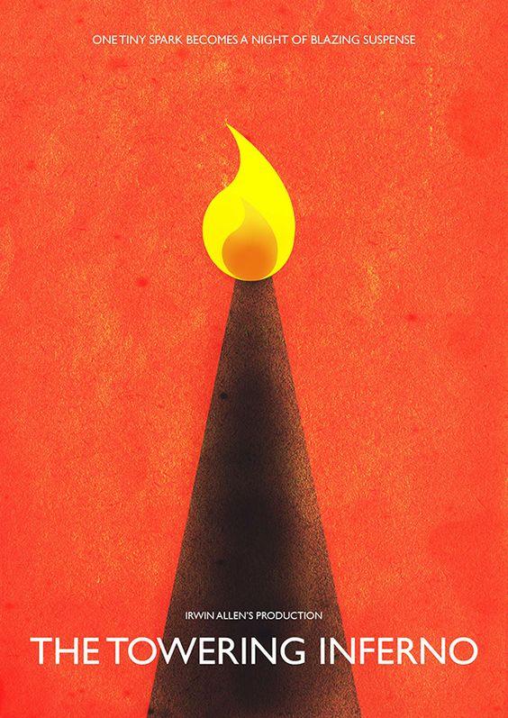 The Towering Inferno (1974) ~ Minimal Movie Poster by Gabriel Pangua #amusementphile