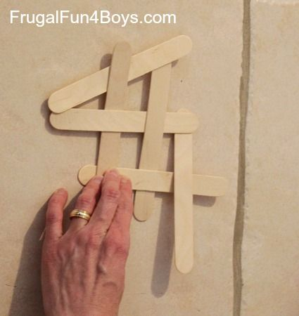 Build a chain reaction with popsicle or craft sticks for Get paid to make crafts