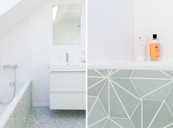 Salle de bain Auguste et Claire - Carreaux ciment dandelion