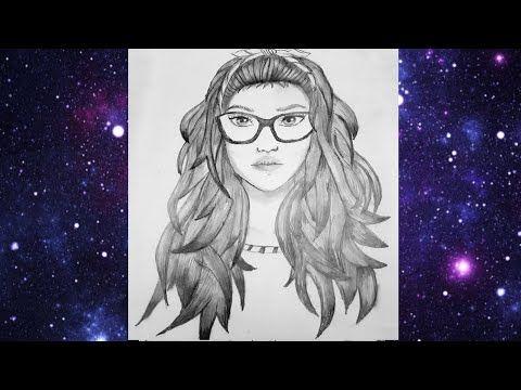 تعليم الرسم بالرصاص رسم فتاة بنظارات How To Draw A Girl With Glasses Youtube Pencil Sketch Female Sketch Art