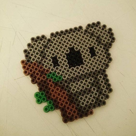 Koala hama beads by perler tastic pinterest ps kawaii et koalas - Perle a repasser ikea ...