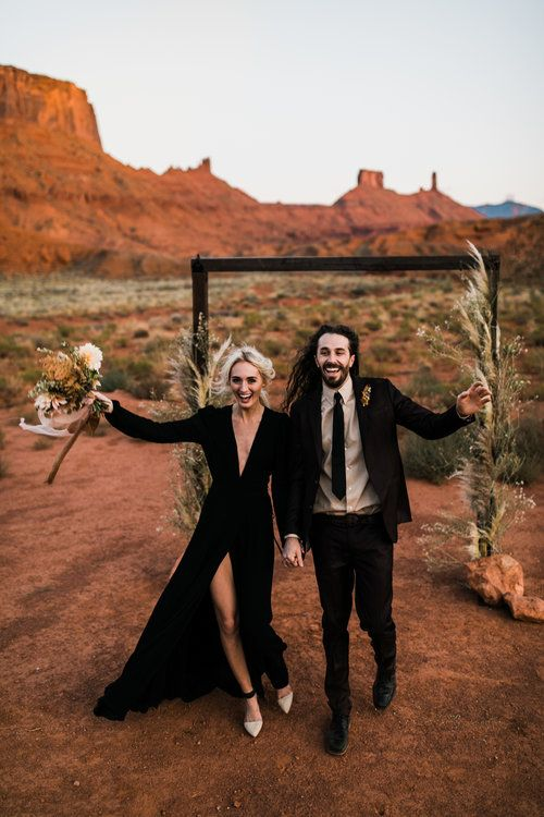 black wedding dress inspiration moab, utah elopement photographer