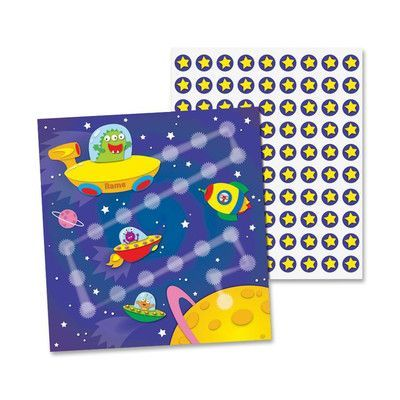 CARSON-DELLOSA PUBLISHING Out Of This World Mini Incentive Chart (Set of 2)
