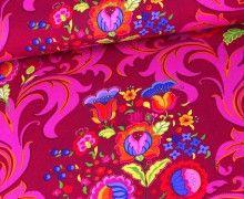Baumwolle - Curly - Blumen und Ornamente - Beere