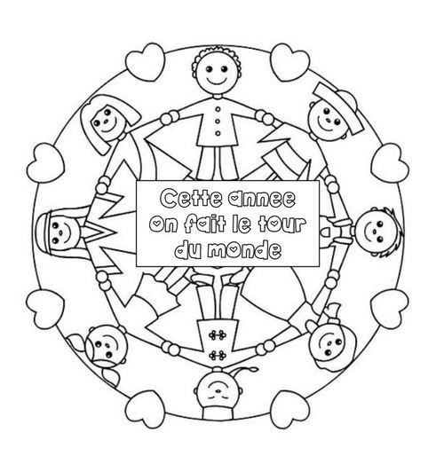 Deco on pinterest - Coloriage les enfants du monde ...