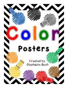 Each poster is fit to a 8.5x11 sheet of paper. Chevron border matching the…