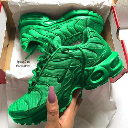 Green Apple Air Max Plus   Kicks shoes